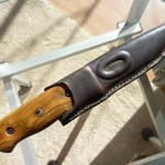 Griff Perückenstrauchholz mit Steininlay