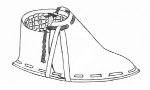 Oetzi re Schuh, Rekonstruktionszeichnung