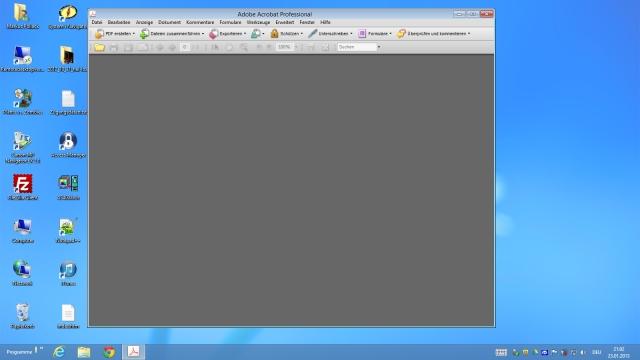Windows 8 mit Acrobat 8